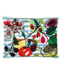 Christian Lacroix Manaos Turquoise Throw Pillow | Designers Guild