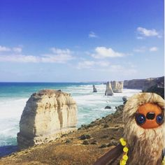 Mr Sloth enjoyed his trip to the 12 Apostles while he waits for his forever home ! We are nearly back to work ! We will return any emails and messages regarding orders tomorrow ! Good news jute rugs will be on their way to you Wednesday ! #juterugs #sloth #woodlands #holiday #greatoceanroad #12apostles #lochardgorge #goodiis_workshop by foxdenandco http://ift.tt/1ijk11S