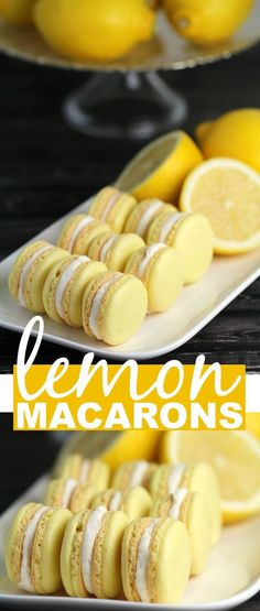 This Lemon Macaron Recipe is a masterpiece - and with it you too can make French Meringues worthy of any bakery! I'm sharing all the tips and tricks you need to make gorgeous lemon cookies successfull (Baking Desserts Healthy) Lemon Macaron Recipe, Lemon Macarons, Macaroon Recipes, French Macarons Recipe, French Macaroons, Best Macaroon Recipe, Chocolate Macaron Recipe, Macaroon Cake, Gastronomia