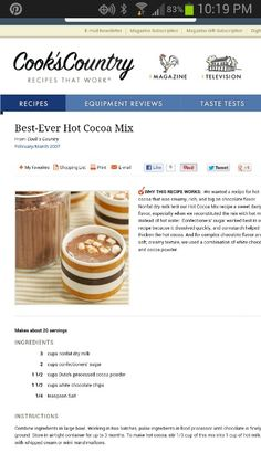 Best hot cocoa!