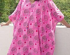 Caftan plus size dress short cotton kaftan elephant kimono robe women clothing Indian batik night wear nightie short beach cover up maxi top