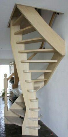 Afbeeldingsresultaat voor trap weinig ruimte