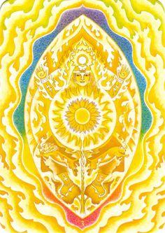 Troisième Chakra (le plexus solaire) - Tarot triple déesse par Isha Lerner & Mara Friedman