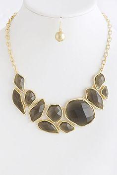 jewel crescent necklace