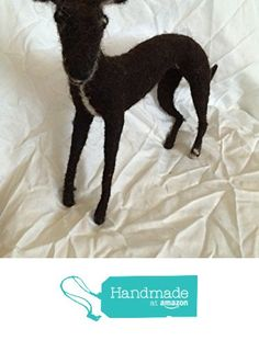 Needle felted Dog sculpture - Ross The Whippet from Essence of Tranquility https://www.amazon.co.uk/dp/B01M0J0JY4/ref=hnd_sw_r_pi_dp_6mq8xbVQ8KGH3 #handmadeatamazon