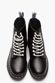 3 Pairs Boots /& Braces Ska Black /& White Long Flat Boot Shoe Laces Punk Skinhead