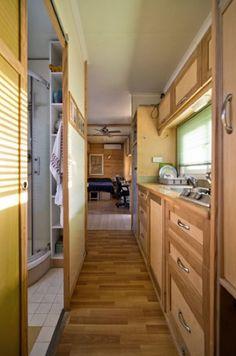Box Truck Converted into Amazing DIY Solar Mobile Cabin Photo