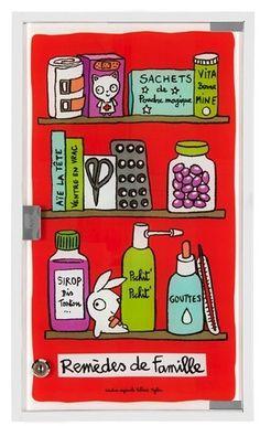 keladeco.com - #armoire à #pharmacie famille rouge, idée deco salle de bain, armoire à pharmacie valérie nylin, armoire à pharmacie derrière la porte - DLP