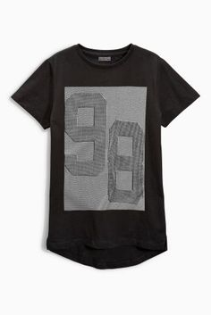 Buy Black 98 Raised Print Tee (3-16yrs) from the Next UK online shop