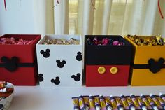 Mouse First Birthday Party Planning Ideas Supplies Idea Cake Mickey Mouse Birthday Party via Kara's Party Ideas Theme Mickey, Fiesta Mickey Mouse, Mickey Mouse Parties, Mickey Party, Elmo Party, Dinosaur Party, Dinosaur Birthday, Mickey Candy Bar, Disney Candy
