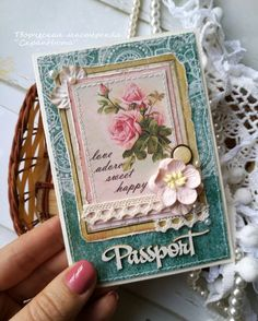 Обложка на паспорт ручной работы для девушки работа для девушке салон интим