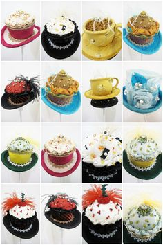 Fancy a hat from Jacqueline Kolbe, these are cupcake shaped hats.