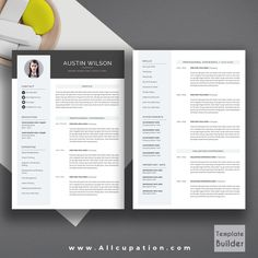 Creative Resume Template Cover Letter Word Modern Simple