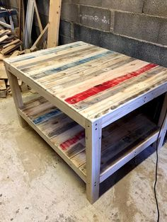 Big Size Pallet Coffee Table | 99 Pallets