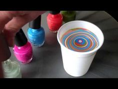 Nagels marmeren (Water marble) (Nailstyling) - YouTube
