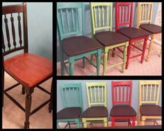 Kitchen chair makeover with Annie Sloan chalk paint!