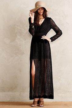 Devore Maxi Dress #anthropologie