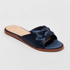 edf15749f36c72 A New Day Women s Stacia Knotted Satin Slide Sandals. I love target shoes  and sandals