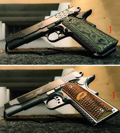 Twitter Kimber 1911, Firearms, Hand Guns, Carving, Twitter, 1911 Kimber, Pistols, Weapons, Wood Carvings