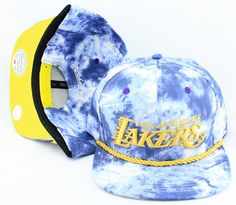 26bca6a3415 NBA Mitchell And Ness The Blue Acid Wash Denim SNAPBACK LAKERS 8834! Only   8.90USD