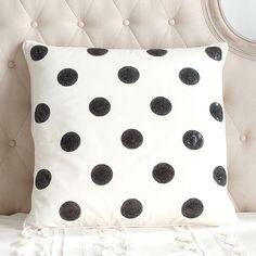 The Emily + Meritt Sequin Dot Euro Pillow Cover | PBteen