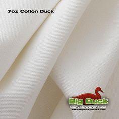 7 oz Cotton Duck Canvas White Wholesale $4.90