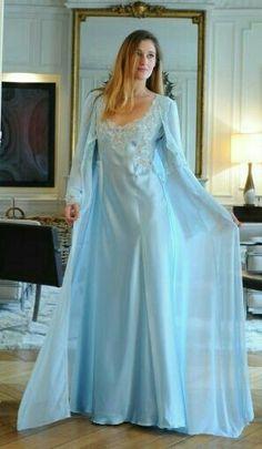Satin Nightie, Satin Gown, Satin Slip, Nightgown, Elegant Lingerie, Lace Lingerie Set, Pretty Lingerie, Bridal Nightwear, Elven Princess