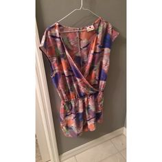 Adorable colorful Romper Adorable multi color romper!!! One clothing brand. one clothing Pants Jumpsuits & Rompers