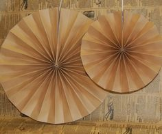 Brown Kraft Paper Fans  So versatile...works with so many themes. www.jillybeankids.com
