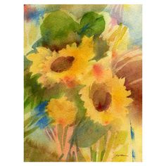 Found it at Wayfair - Garden Sunflowers Canvas Art by Sheila Goldenhttp://www.wayfair.com/daily-sales/p/Wall-Art-Clearance-Event-Garden-Sunflowers-Canvas-Art-by-Sheila-Golden~HYT5866~E14002.html?refid=SBP