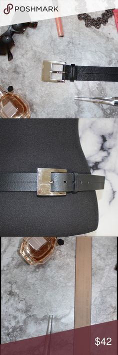 Vegan Cruelty Free MK Unisex Belt Good condition 9/10 due to scratching on buckle as shown in pictures. They aren't very noticeable when worn, but they are noticeable when you are just staring at the belt ☺️ Comment for measurements! Please ask us any questions you may have! We are fast to respond! 👯Ships same day M-Sat if order places before 2pm PST! please exclude federal holidays. Michael Kors Accessories Belts
