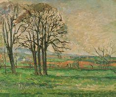 Paul Cézanne, The Bare Trees at Jas de Bouffan, 1885-1886, Post-Impressionism