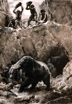 Hunting the cave bear, 1951