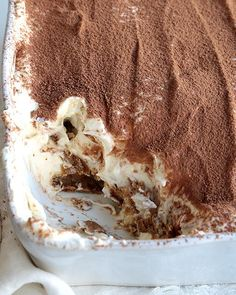This is my take on a tiramisu and people ALWAYS ask me for my recipe when they taste it! It's sure to be a hit at any party you bring it to or any meal you serve it at! It's the ORGINAL no-bake recipe to boot! Baking Recipes, Cake Recipes, Dessert Recipes, Bread Pudding With Croissants, Cheesecakes, Sweet Paul, How Sweet Eats, Easy Desserts, Love Food