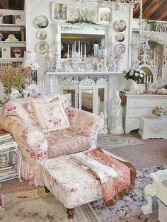 shabby chic living area