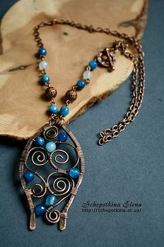 beautiful wire pendant