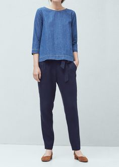 MNG Soft fabric trousers REF. 61030087 - LAZADA-A $79.95