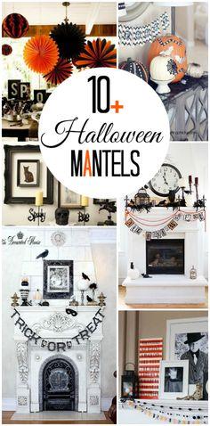 Inspiring Halloween mantels - Lolly Jane