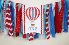 Hot Air Balloon 1st Birthday Highchair Banner by MyLittleBoobug