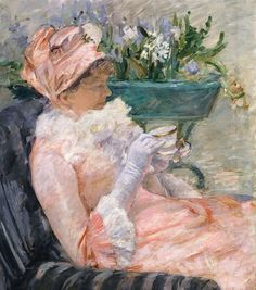 Mary Cassatt  The Cup of Tea  1880-81The love of Art, that you can stare for hours!