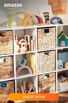 Room Ideas Bedroom, Nursery Room, Kids Bedroom, Playroom Design, Playroom Decor, Playroom Organization, H & M Home, Toy Rooms, Big Girl Rooms