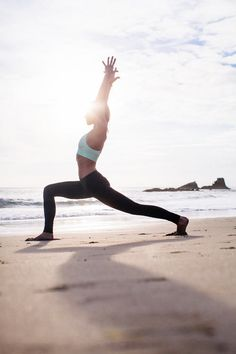 Tone Those Legs Exercises On The Beach. Nice idea but I'd need a private beach for doing this haha