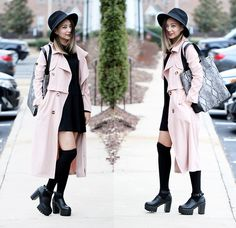 Style Moi Trench Coat, Sheinside Mini Dress, Yoins Collection, Forever 21