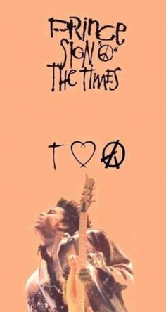 "Classic Prince | 1987 Sign ""☮"" The Times!"