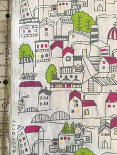 Isso Ecco house Canvas Fabric by the Yard-Lecien
