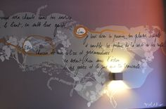 #décorationmurale sur mesure et #textepoetiquesurmur original restaurant Anna S. by Mel et Kio
