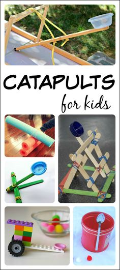 14 catapults for kids to build and learn with to apply their knowledge of simple machines!
