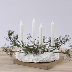 Christmas Advent Wreath, Xmas, New Years Decorations, Christmas Decorations, Plant Decor, All Things Christmas, Gemini, Candles, Holiday