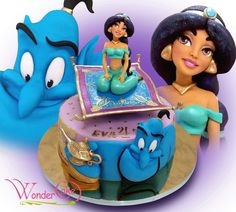 WonderCake | Jasmine and Genie Aladdin cake
