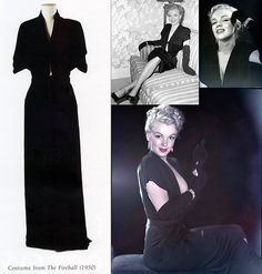 Marilyn's black velvet dress from The Fireball, 1950.
